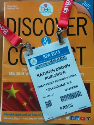 Kiffer Brown's BEA Press Badge