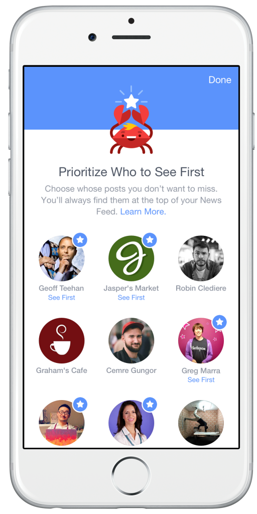 FB Newsfeed Preferences Seefirst